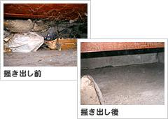 ゴミの掻き出し作業(環境改善)